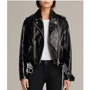 Brand New! All saints patent leather jacket NWT!